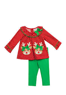 Rare Editions 2-Piece Reindeer Shirt and Leggings Set