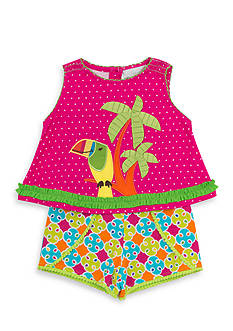 Rare Editions 2-Piece Toucan Top and Short Set