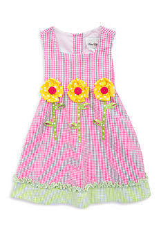Rare Editions Flower Seersucker Dress Toddler Girls