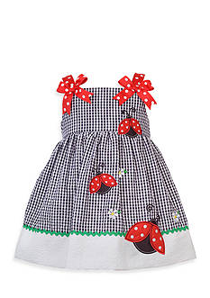 Rare Editions Seersucker Ladybug Dress Toddler Girls