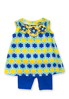 Rare Editions 2-Piece Geometric Top and Short Set Toddler Girls