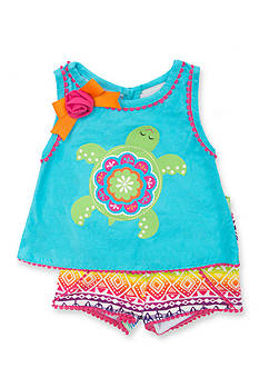 Rare Editions 2-Piece Turtle Tribal Top and Short Set Toddler Girls