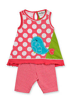 Rare Editions 2-Piece Dot Bird Tank Top and Short Set Toddler Girls