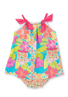 Counting Daisies by Rare Editions Tropical Print Dress Toddler Girls