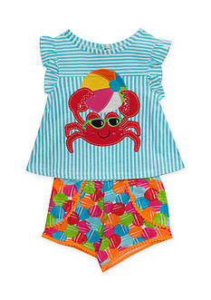 Rare Editions Crab Top and Short 2-Piece Set Toddler Girls