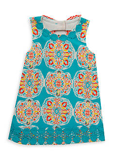 Rare Editions Medallion Shift Dress Toddler Girls