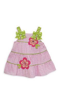 Rare Editions Tiered Flower Seersucker Dress Toddler Girls