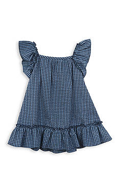 Rare Editions Checked Seersucker Dress Toddler Girls