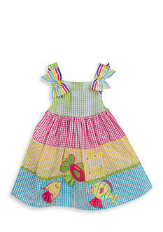 Rare Editions Tiered Fish Seersucker Dress Toddler Girls