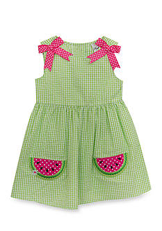 Rare Editions Watermelon Seersucker Dress Toddler Girls