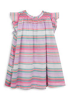 Rare Editions Multi Stripe Woven Dress Toddler Girls