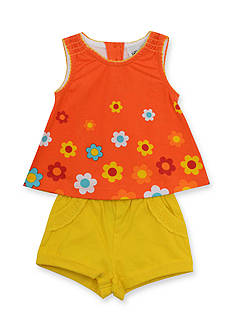 Rare Editions Coral Flower Short Set