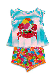Rare Editions 2-Piece Crab Top and Short Set