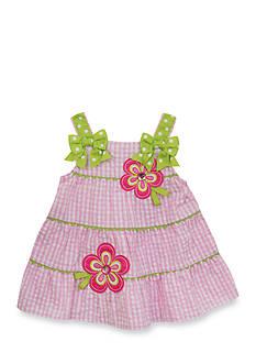 Rare Editions Seersucker Flower Dress