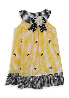 Rare Editions Seersucker Bee Dress