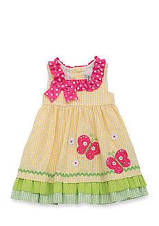 Rare Editions Seersucker Butterfly Dress