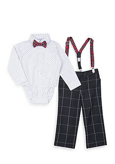 IZOD 4-Piece Infant Suspender Set