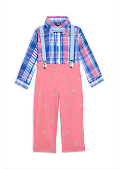 IZOD 4-Piece Onsie, Pant, Bow Tie, and Suspender Set