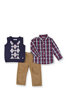 IZOD 3-Piece Sweater Vest, Shirt and Pant Set Toddler Boys
