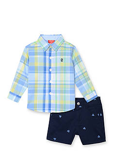 IZOD 2-Piece Button-Front Shirt and Short Set Toddler Boys