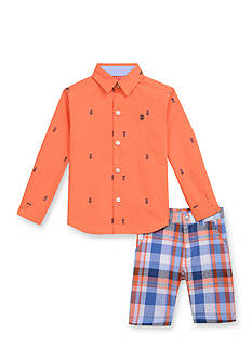 IZOD 2-Piece Woven Button-Front Shirt Set Toddler Boys