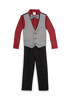 IZOD 4-Piece Vest Bow Set Toddler Boys