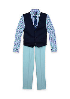IZOD 4-Piece Vest and Pants Set Toddler Boys