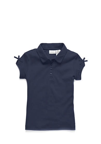 IZOD Uniform Polo With Bow Toddler Girls