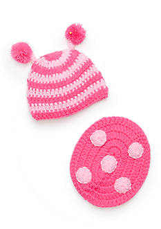 Mud Pie® 2-Piece Knit Ladybug Hat and Bum Cover Set