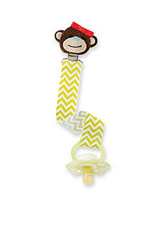 Mud Pie® Chevron Print Monkey Pacifier Clip
