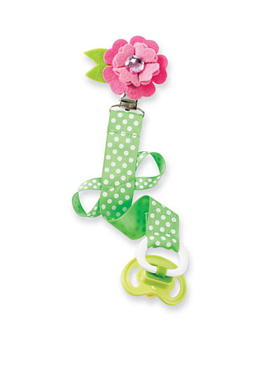 Mud Pie® Polka Dot Flower Pacifier Clip