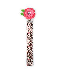 Mud Pie® Leopard Print Flower Pacifier Clip