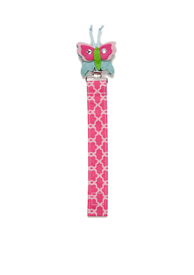 Mud Pie® Floral Butterfly Pacifier Clip