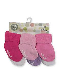 Little Me 6-Pack Solid Sock Set