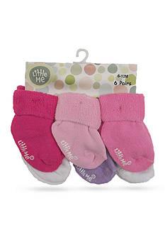 Little Me 6-Pack Solid Color Sock Set