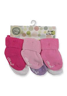 Little Me 6-Pack Solid Socks