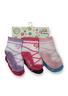 Little Me 6-Pack Ballet Sock Set