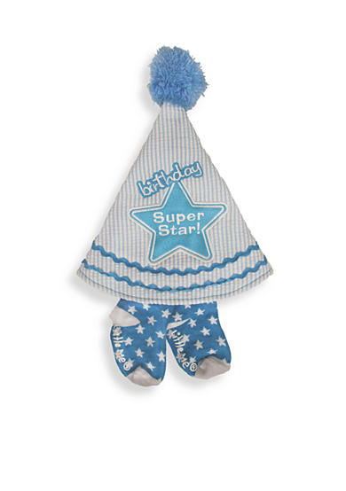 Little Me 2-Piece Birthday Hat and Socks Set