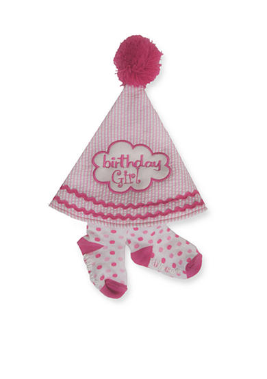 Little Me 2-Piece Birthday Hat and Bootie Set