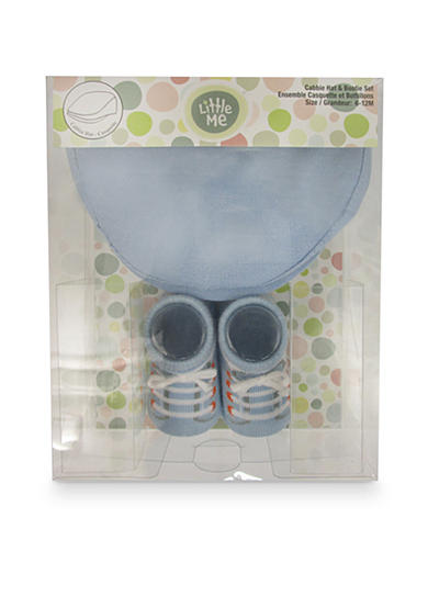 Little Me 2-Piece Cabbie Hat and Booties Boxed Set
