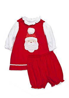 Petit Ami 2-Piece Bloomer and Santa Dress Set Baby/Infant Girl