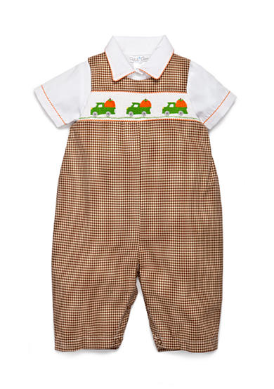 Petit Ami Check Patterned Pumpkin Coverall