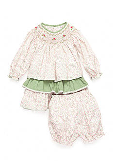 Petit Ami 2-Piece Floral Holly Bloomer and Dress Set Baby/ Infant Girls