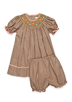 Petit Ami 2-Piece Bloomer and Pumpkin Smock Dress Baby/Infant Girl