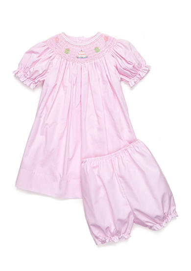 Petit Ami 2-Piece Birthday Smock Dress and Bloomer Set