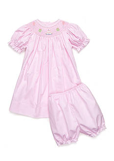 Petite Ami 2-Piece Bloomer and Birthday Smock Dress Baby/Infant Girl