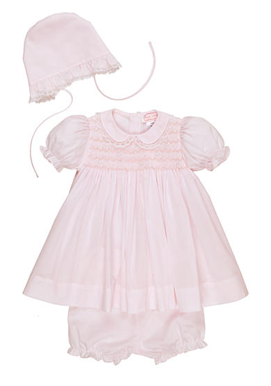 Petit Ami Pink Lace Dress with Hat