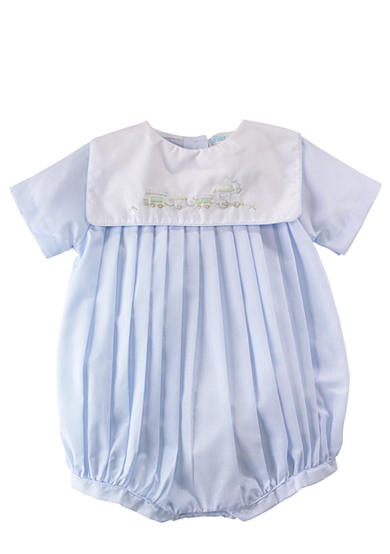 Petit Ami Pleated Bubble Romper - Newborn
