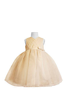 Us Angels® Flower Girl Satin And Point D'Esprit Ballerina Dress-Infant Girls