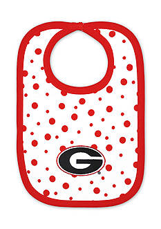 Two Feet Ahead Georgia Bulldogs Polka Dot Bib